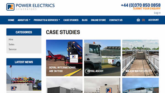Sitefinity Website Updates for Power Electrics